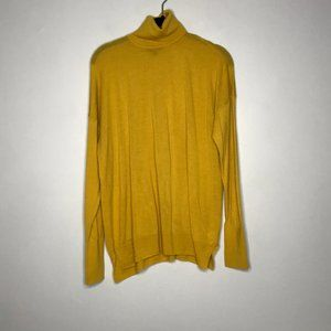J. Crew Merino Wool Yellow Turtleneck Pullover